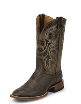 Men's Nocona Boot, Brown Shoulder Print, Brown Shaft, Round Toe
