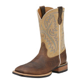 Men's Ariat Boot, Quickdraw Brown, Square Toe
