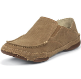 Men's Tony Lama Slip On, Wheat Canvas, 3R Casual Slip-On