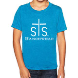 Kids STS Tee, Turquoise with Logo