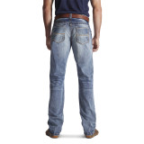 Men's Ariat Jeans, M4 Low Rise, Boot Cut, Light Wash, Coltrane Durango