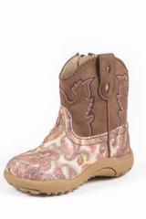 Infant Roper Boots, Glitter Paisley