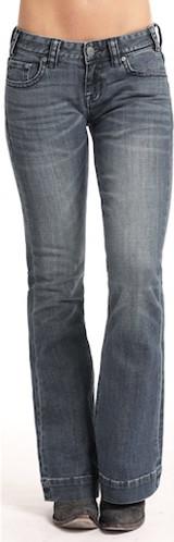 Women's Rock & Roll Jeans, Trouser Fit, Medium Vintage Wash