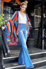 Women's Judith March Kimono, Marfa Stripe, Bell Sleeve