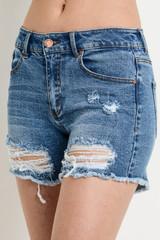 Women's C'est Toi Shorts, Distressed, Mid Rise