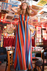 Women's Judith March Dress, Marfa Serape, Maxi Style, V-Neck