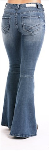 Women's Rock & Roll Jeans, Mid Rise, Ultra Flare