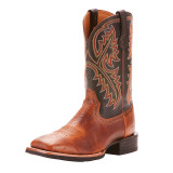 Men's Ariat Boot, Quickdraw, Smooth Brown Ostrich, Black Shaft