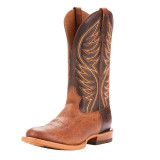 Men's Ariat Boot, Slick Fork, 2 Tone Vamp, Brown Shaft