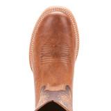 Men's Ariat Boot, Slick Fork, 2 Tone Vamp, Brown Shaft