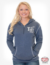 Women's Cowgirl Tuff Hoodie, Blue Fleece, Branded Embroidery