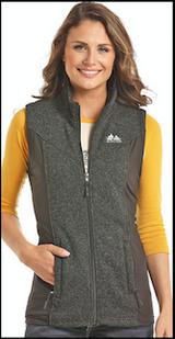 Women's Powder River Vest, Heathered Black