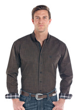 Men's Panhandle L/S, Solid Heathered Brown