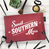 "Women's Ruby's Rubbish Makeup Bag, ""Sweet Southern Mess"""