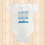 "Girls Ruby's Rubbish Onesie, White/ Blue, ""Let Her Sleep"""