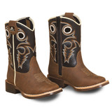 Toddler Double Barrel Boots, Trace, Brown Vamp with Dark Brown Shaft
