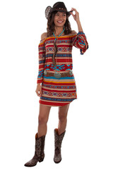 Women's Scully Dress, Serape, Off Shoulder
