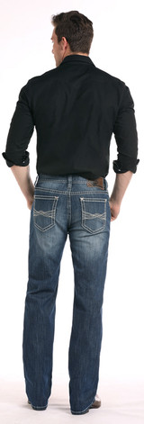 Men's Rock & Roll Jeans, Double Barrel Relaxed Fit, Medium Wash