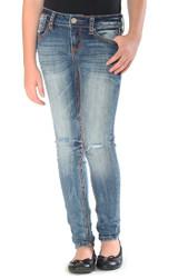 Girls Grace in LA Jeans, Skinny Rust Stitching