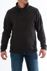 Men's Cinch Pullover, Heathered Black, 1/4 Zip