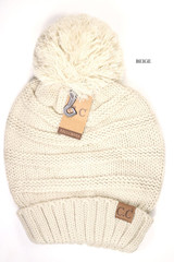 C.C. Beanie, Solid, Slouchy with Pom