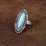 West & Co Ring, Silver Navajo with Turquoise Stone