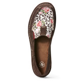 Women's Ariat Cruiser, Chocolate with Leopard Print, Roses