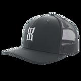 Men's Bex Cap, Klafkyn, Gray Trucker, White Logo