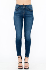 Women's Sneak Peek Jeans, Mid Rise Skinny, Double Button, Medium Dark Wash