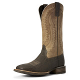 Men's Ariat Boot, Hot Iron, Chocolate Elephant, Tan Shaft
