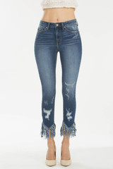Women's KanCan Jeans, Ankle Skinny, Frayed Hem