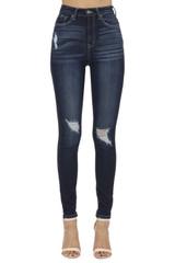 Women's KanCan Jeans, Chanel Rylee, Skinny Dark Wash, Distressed