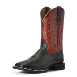 Men's Ariat Boot, Circuit Herd Boss, Red shaft with Black Vamp