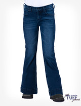Girls Cowgirl Tuff Jean, Trouser, Dark Wash