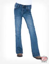 Girls Cowgirl Tuff Jean, Trouser, Medium Wash