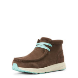 Women's Ariat Shoe, Spitfire, Dark Brown and Turquoise
