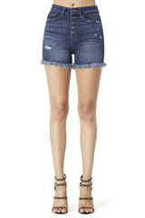 Women's KanCan Shorts, High Rise, 5 Button, Medium Wash