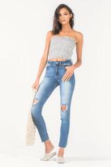 Women's KanCan Jeans, Joyner Islay, Skinny Distressed