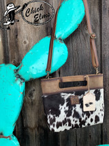 Women's STS Purse, Cowhide Flat Rock Clutch