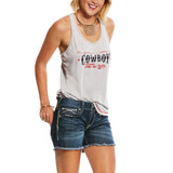 Women's Ariat Tank, Cowboy Take Me Away