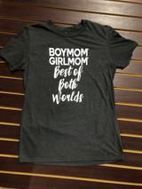 Women's Boymom Tee, Best of Both Worlds, Gray