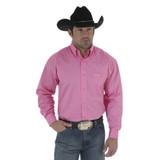 Men's Wrangler L/S, Solid Pink