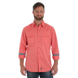 Men's Wrangler L/S, Retro, Solid Salmon