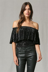Women's By Together Top, Off Shoulder, Cropped
