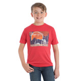 Boys Wrangler Tee, Vintage Red