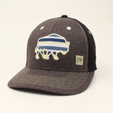 Men's Ariat Cap, Gray with Blue Serape Buffalo Patch