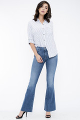 Women's Sneak Peek Jeans, Medium Rise, Flare