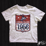 Toddler XOXO Tee,  Chick Elms 1956, Gray