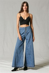 Women's By Together Jeans, Wide Leg, Multi Button