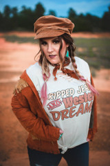 Women's GINA Tee, Ripped Jeans and Western Dreams